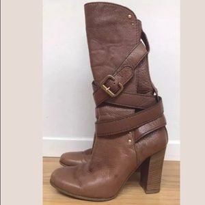 Chloe Paddington Buckled Wrap Calf Boots